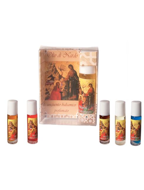 Confezione con Olio di Nardo profumato disponibile in diverse essenze