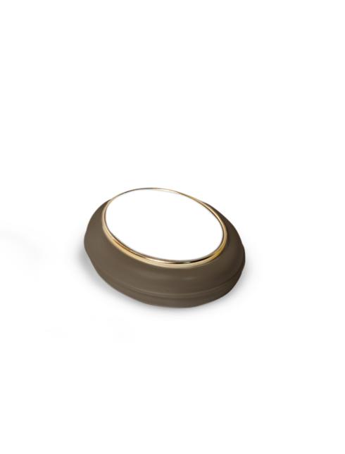 Scatolina portacorona con chiusura scorrevole e immagine effetto lucido e decori in oro