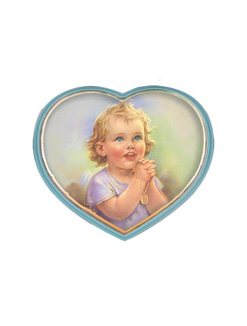 Sopraculla in polimero a cuore Disponibile in rosa e celeste