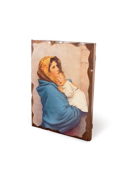 Quadro in legno massello con bordo , immagine frastagliata