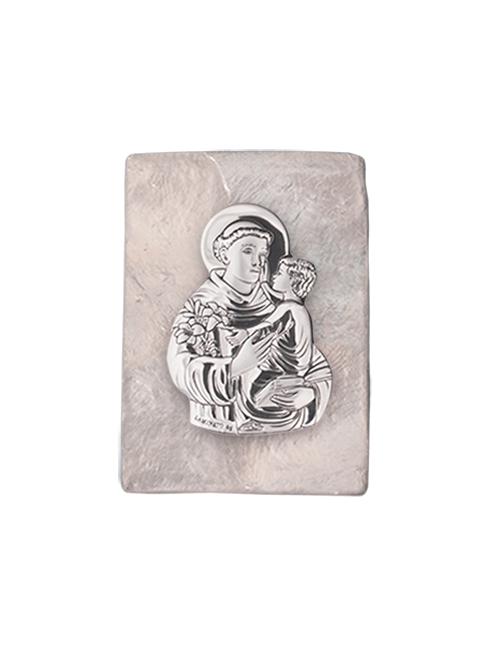 Scatola in madreperla con placca in lamina d'argento