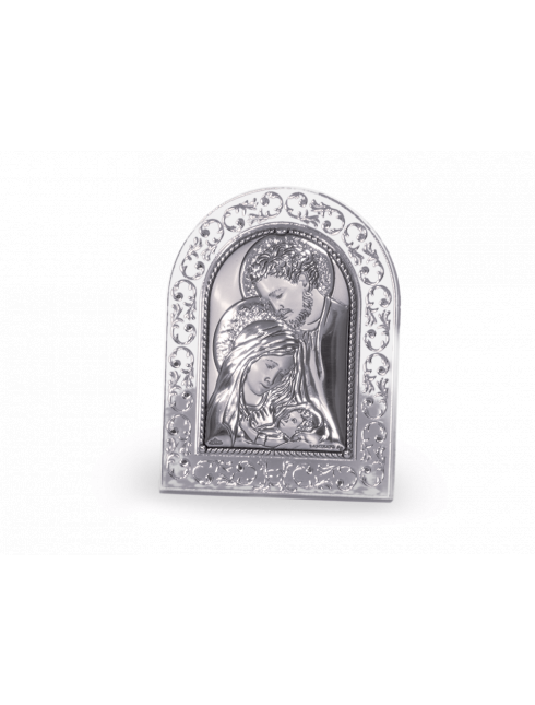 Quadretto in plex-glass con placca in argento