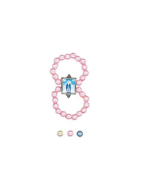 Anello con grani effetto perla