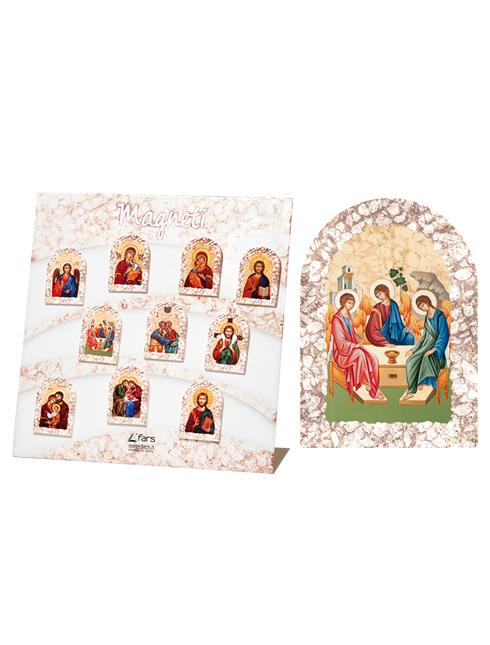 """Magnete cupolina effetto pietra con """"icone ortodosse"""""""
