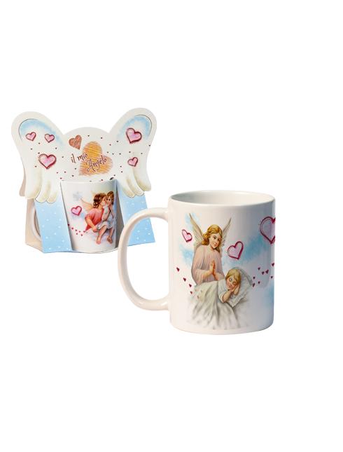 Tazza in ceramica con angeli