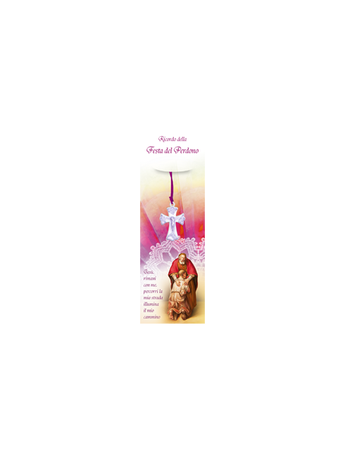 Cartoncino della Santa Cresima con crocetta da collo