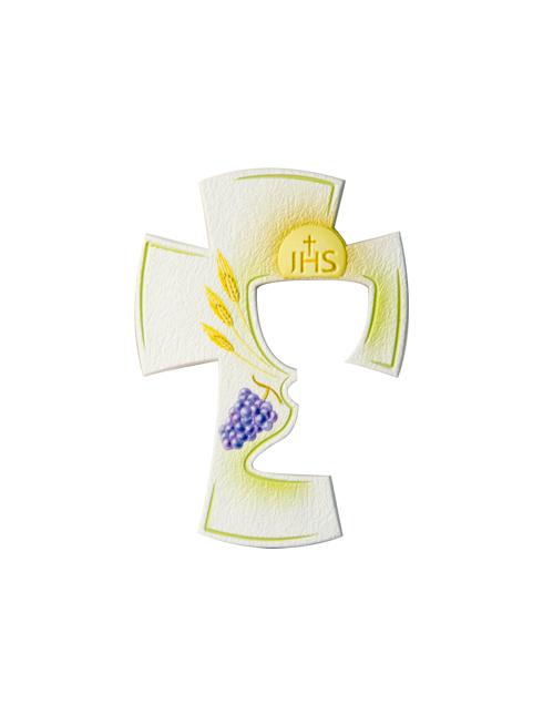 Croce Cresima con effetto pietra traforata