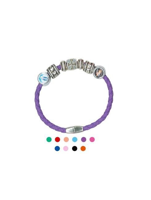 Bracciale chiusura magnetica con medaglie personalizzabili