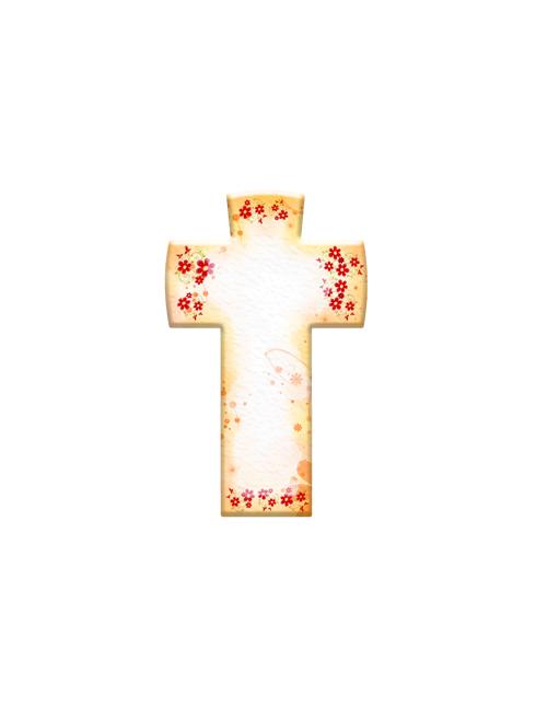 Croce in Pietra Sintetica con Ave Maria o Padre Nostro