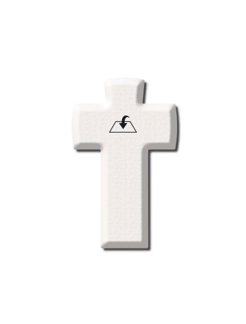 Croce in pietra sintetica