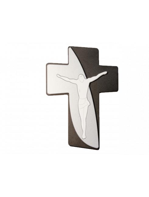 Crocifisso Stilizzato in Legno Multilivello
