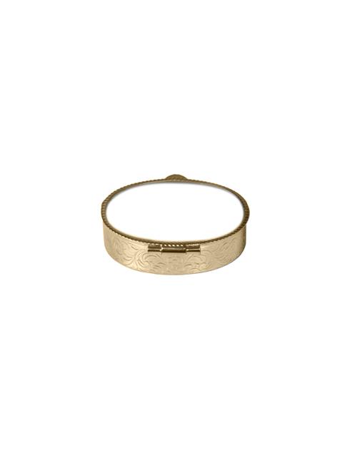 Portarosario in metallo colore oro