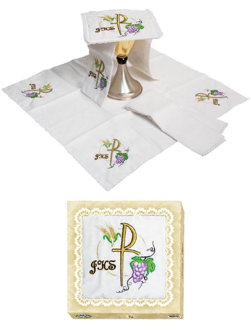 Servizio da Messa in lino in 4 pezzi