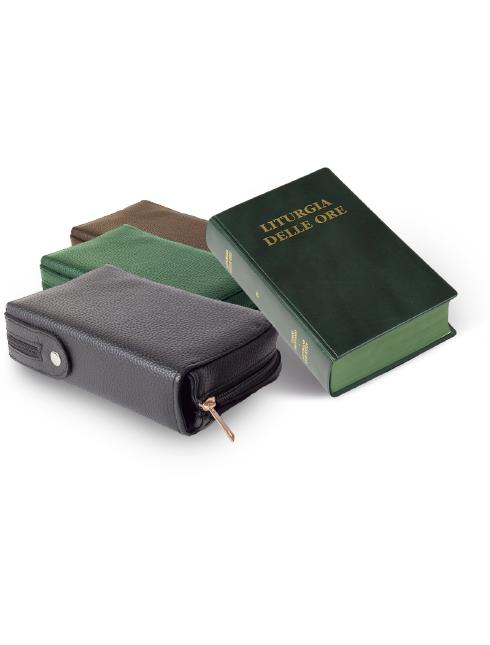 """Custodia in pelle per libro """"Liturgia delle ore - 4 volumi"""""""