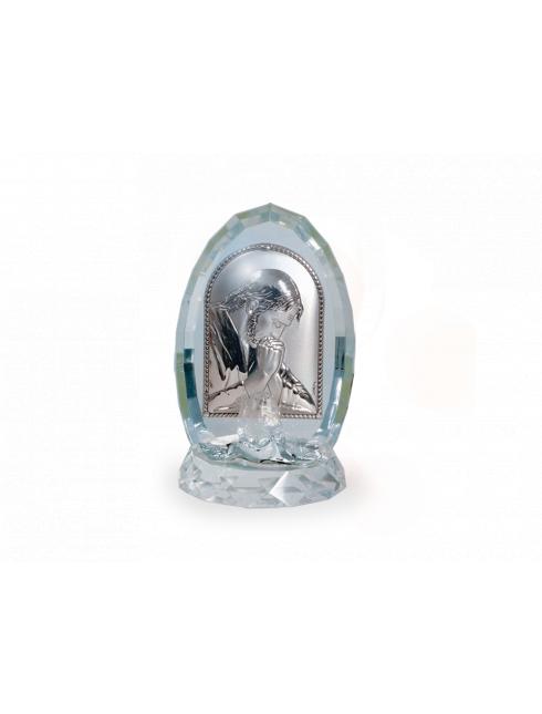 Quadretto con placca in argento bilaminato