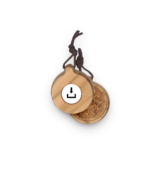 Ciondolo in legno d'ulivo