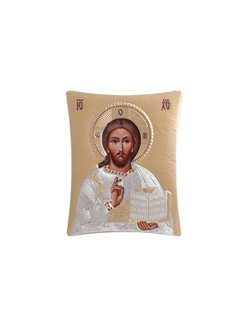 Icone ortodosse in legno e argento PUD 5,5x7 cm