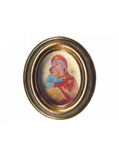 Cornice piccola Ovale in foglia oro