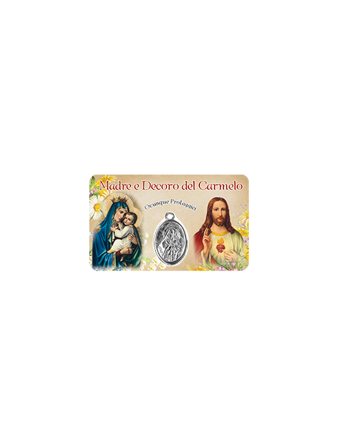HolyCard tascabile con medaglia