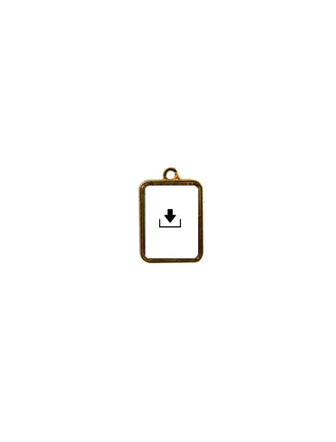 Medaglia in metallo con spilla/anello