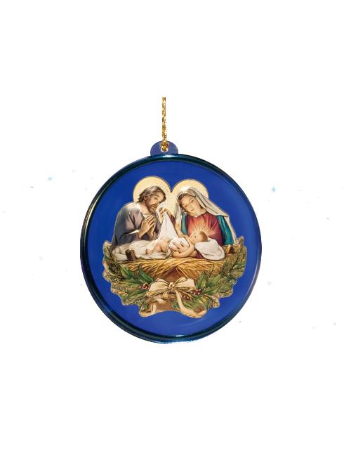 Pallina in plexiglass con soggetti natalizi