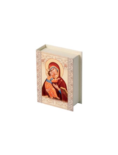 Scatola porta rosario con apertura a libro