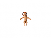 Bambino Gesù in polimero dipinto