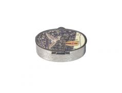 Portarosario in metallo colore nickel  Confezione da 12pz