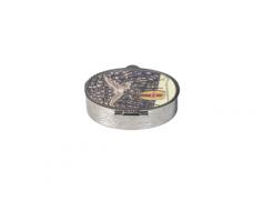 Portarosario in metallo colore nickel