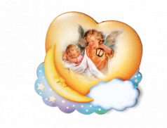 """Quadretto """"nuvola e luna"""" personalizzabile"""