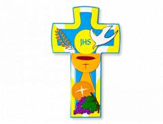 Croce Comunione in pomlimero con finitura lucida