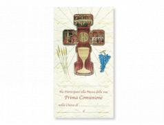 Attestato Comunione con croce della Comunione in polimero