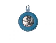 Sopraculla con placca in argento bilaminato