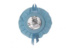 Sopraculla  con placca in lamina d'argento con diversi soggetti disponibili
