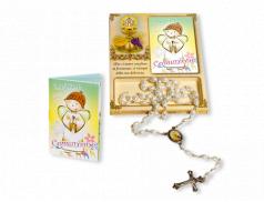 Confezione Prima Comunione con Rosario e libretto preghiere