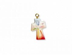 Croce in polimero effetto perlato