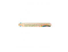 Righello in polimero effetto legno con stampa