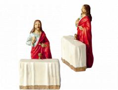 Statuetta in resina dipinta a mano