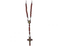 Rosario di San Benedetto in corda con grani in legno