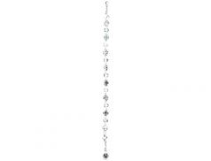 Bracciale con grani in cristallo e  medaglia Miracolosa  grani 7 mm