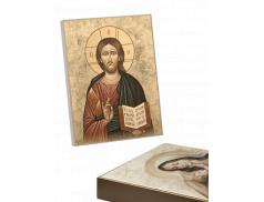 Quadro con telaio in legno effetto dipinto confezionato in scatola cartone patinato bianco