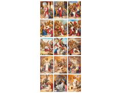 "Set 15 Tele con ""Via Crucis"" 18 x 26 cm"