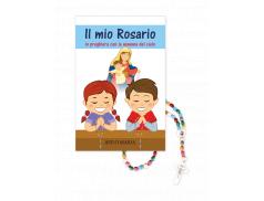 Libreto Rosario per bambini, 44 pag. con rosario in legno