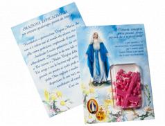 Confezione con rosario in plastica