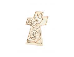 Quadretto croce in resina con rilievi