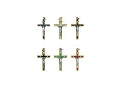 Ciondolo croce in metallo