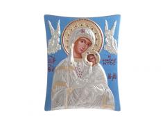 Icone ortodosse in legno e argento PUD