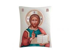 Icone ortodosse in legno e argento PUD 8x9,9 cm
