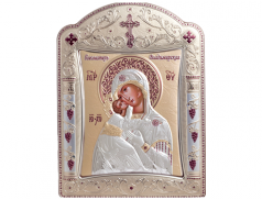 Icone ortodosse in legno e argento PUD 16,7x22,4 cm