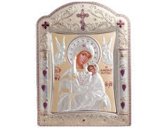 Icone ortodosse in legno e argento PUD 22,7x30,5 cm